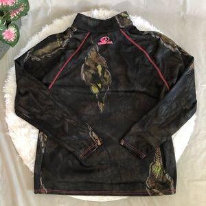 Mossy Oak Half-zip Sweatshirt